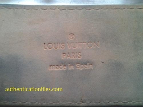 fake louis vuitton label