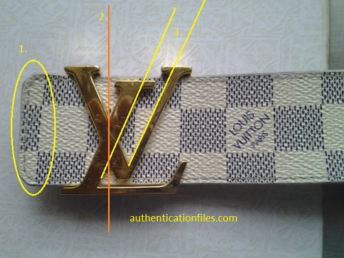 Spot Fake Louis Vuitton Damier Belt