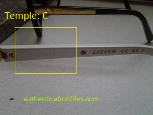 Spot Fake Louis Vuitton EVIDENCE Sunglasses - 300 x 225  24kb  jpg