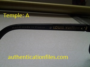 daecb44a0ba Black men. Evidence model number. Below is the white pair of sunglasses  with Temple C. arm information  White Evidence. LV